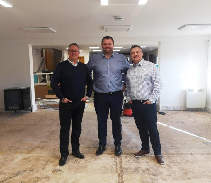 Phil, Alistair and Pete inspecting the renovation work at the Momentum Broker Network office
